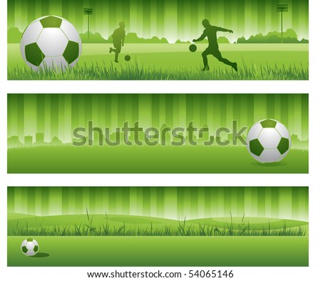 Vector soccer banners
