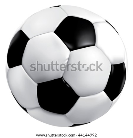 Vector soccer game ball isolated on white background