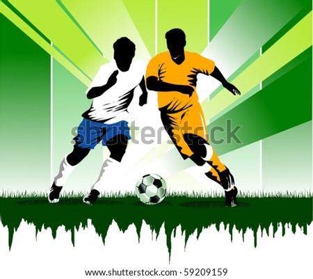 Vector Soccer player design / Football Background / Vector sport design;