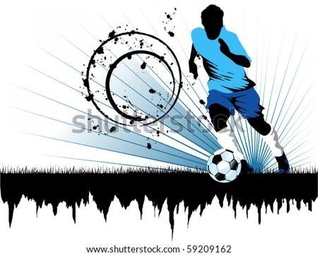 Vector Soccer player design / Football Background / Vector sport design