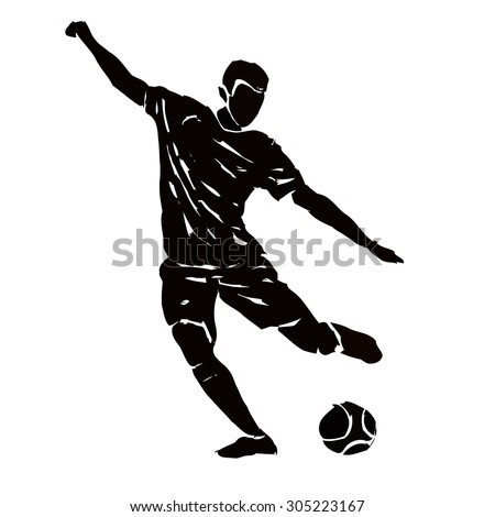 vector soccer player silhouette