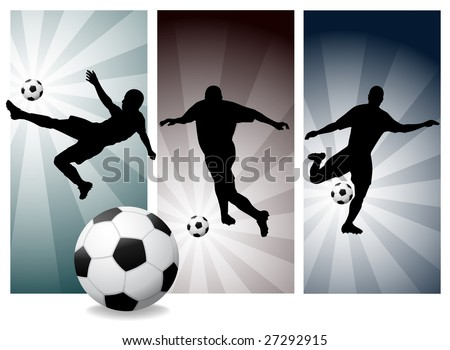 Vector Soccer Players. Easy Change Colors. (Check out my portfolio for other silhouettes)
