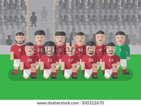 vector soccer team player