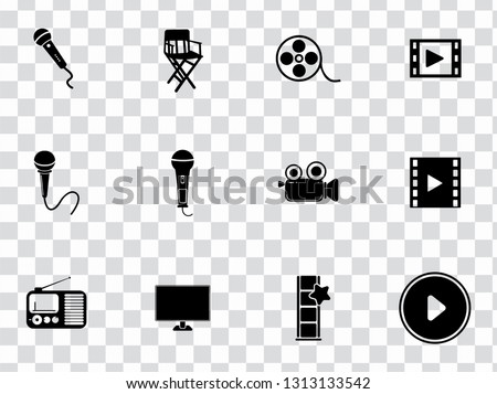vector social media and multimedia sign symbols - communication icons set.