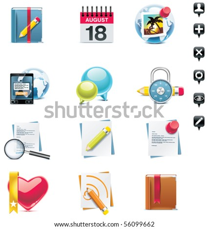 Vector social media icon set. Part 2