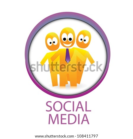 vector social media icon. vector illustration of social media.