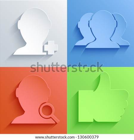Vector social Network icon set backgrounds. Eps10