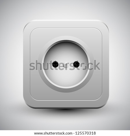 Vector socket | eps10 - stock vector