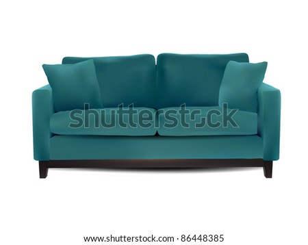 Vector Sofa isolated on white
