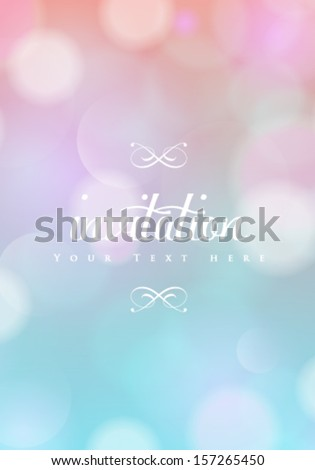 Vector soft colored bokeh abstract background.