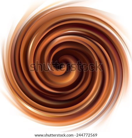 Vector soft wonderful mixed deep orange curvy swirling backdrop with space for text. Beautiful delicious volute fluid creamy surface