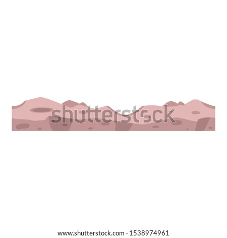 Vector soil ground layers with grey rocks, underground texture. Subterranean landscape for game map design. Layered earth surface, geological natural landscape.