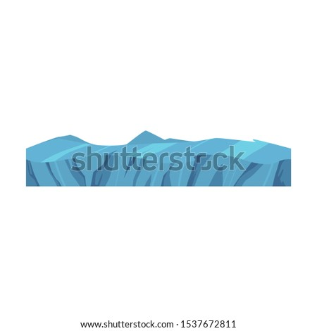 Vector soil ground layers with icy blue rocks, underground texture. Subterranean landscape for game map design. Layered earth surface, geological natural landscape.