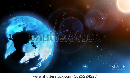vector solar system realistic