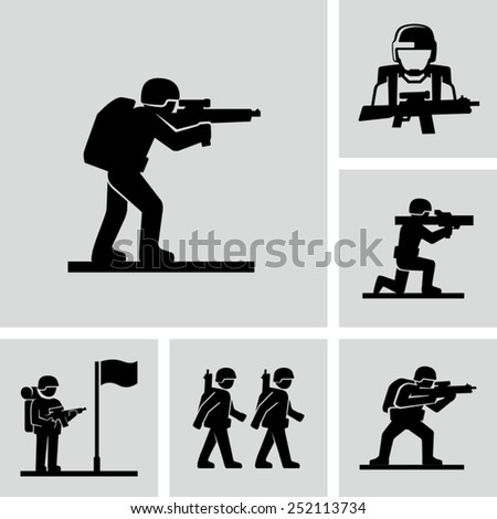 vector soldiers training