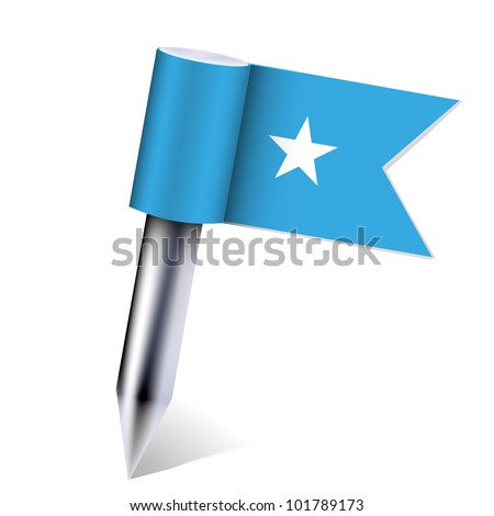 Vector Somali country flag isolated on white. Eps10