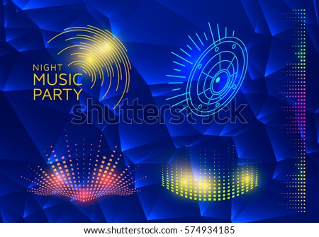 Vector sound equalizer. Music colorful elements for your design.Vector