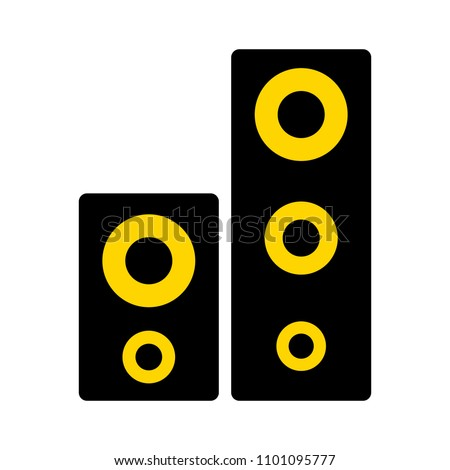 vector sound system speakers - music icon