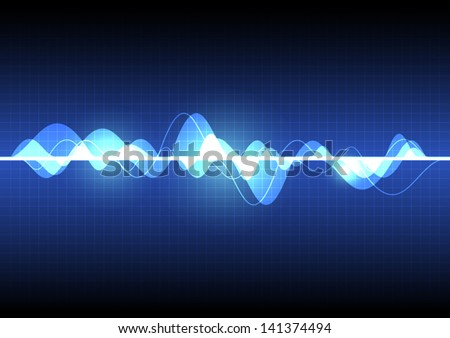 vector sound wave, abstract pulse background