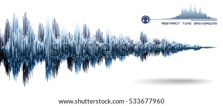 vector sound wave music waves