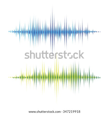 Vector Sound Waveforms. Colorful sound waves for party, DJ, pub, clubs, discos. Audio equalizer technology. Vector illustration