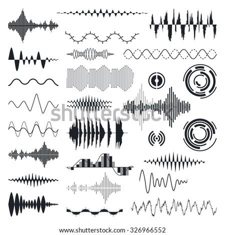 vector sound waves set audio