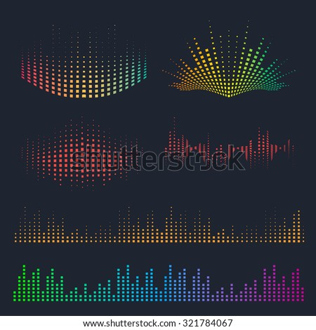 vector sound waves set music