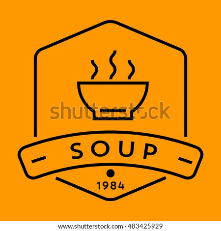 Vector Soup Icon with Linear Style