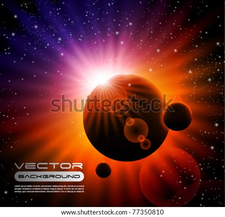 vector space background   sun