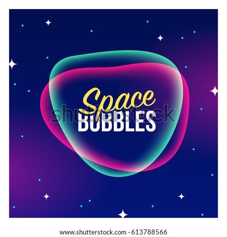 vector space bubble banner