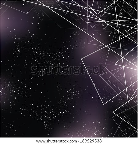 Vector space illustration. Stylized outerspace background with place for your content. Abstract universe background.