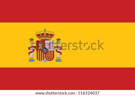 vector spain flag  spain flag