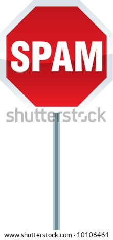 vector SPAM stop sign