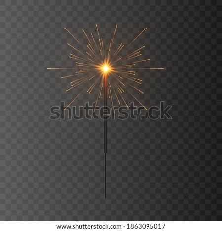 Vector sparkler. Fireworks sparks. Sparks sparkler png. A flash of sparks, a Christmas image. PNG sparks.