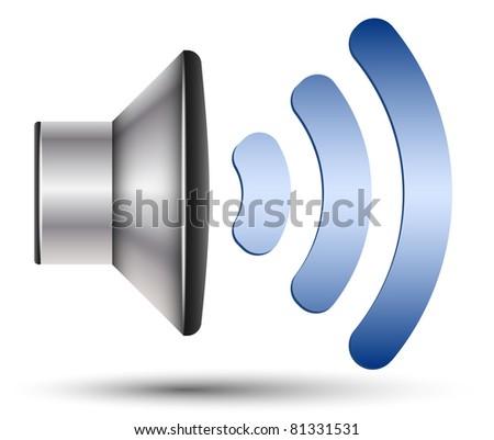 Vector Speaker Icon - stock vector