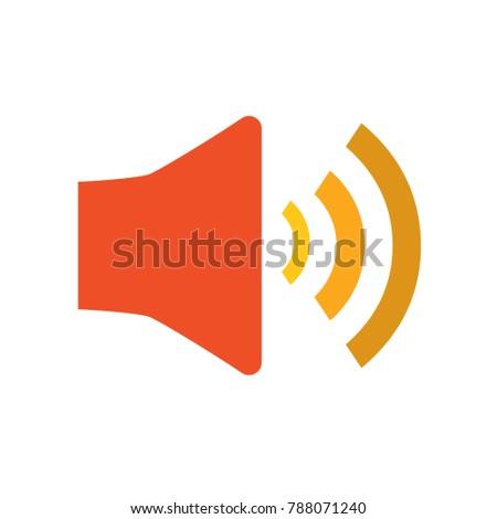 vector speaker volume - sound button