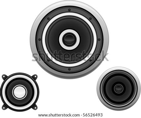 Vector Speakers - stock vector