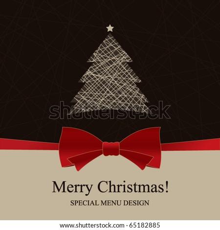 Vector. Special Christmas menu design. - stock vector