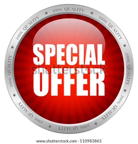 Vector special offer icon, eps10 illustration