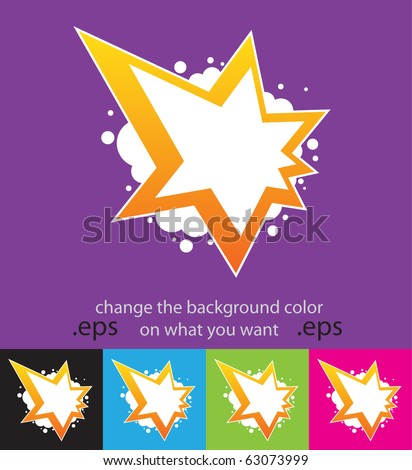 Vector. Special offer with color background