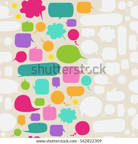 Vector speech bubble background with text space