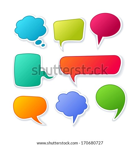 Vector speech bubble collection