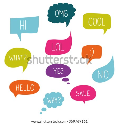 vector speech bubble colorful