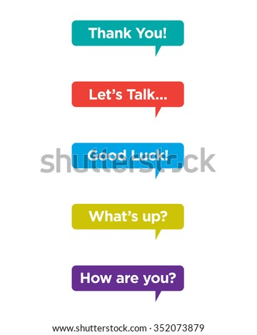 Vector Speech Bubble Set with Messaging #352073879