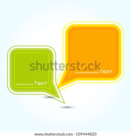 Vector speech bubble ( vector background ) EPS 10