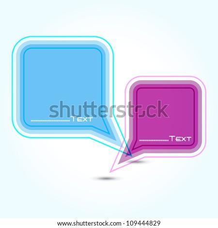 Vector speech bubble ( vector background ) EPS 10