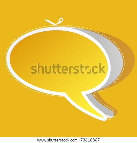 Vector speech bubble. Vector illustration.