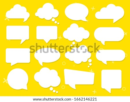 Vector speech clouds chat bubble icon. Vector illustration ストックフォト ©
