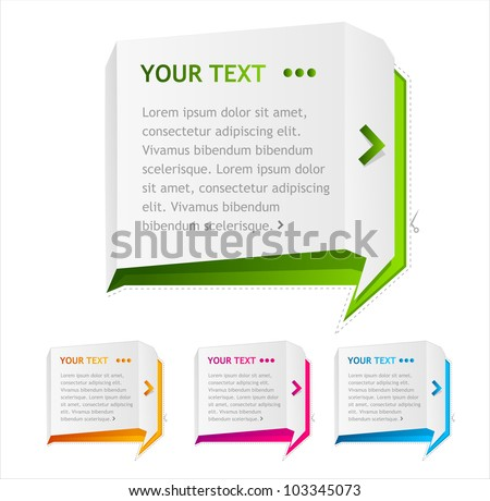 Vector speech templates for text