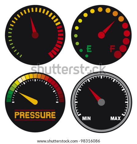 vector speedometer (dashboard speedometer icons, speed meter icons, speedometer, car speedometer and dashboard)
